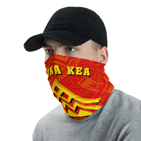 Hawaiian Bandana Mauna Kea Tribal Neck Gaiter - AH - Red - J5 - Alohawaii