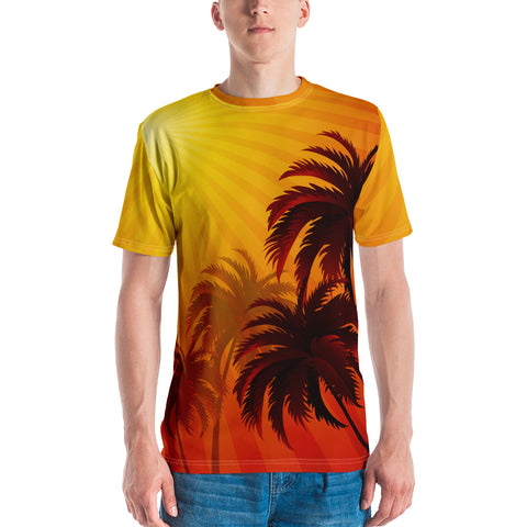 Image of Hawaii Dawn Coconut Tree Men's T-shirt
