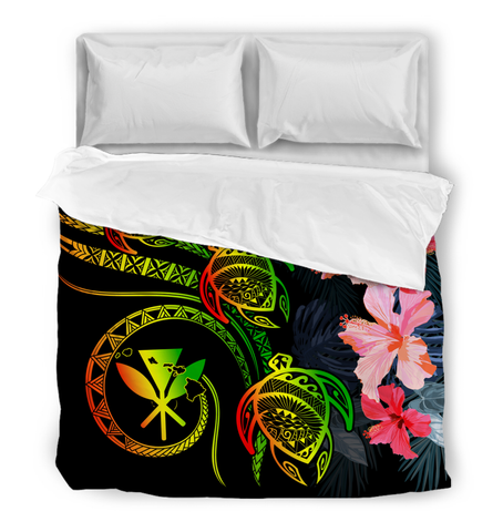 Hawaii Turtle Polynesian Tropical Comforter