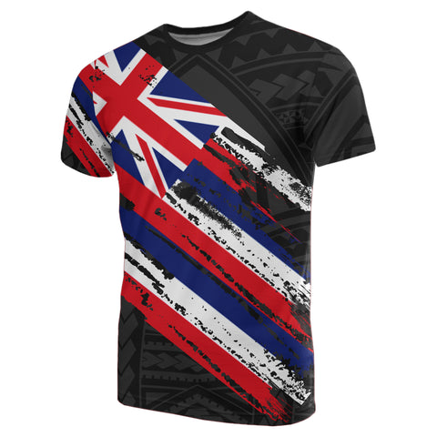 Hawaii Flag Polynesian T-shirt Black - AH - J7 - Alohawaii