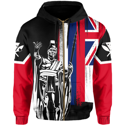 Hawaii King Flag (Zip-up) Hoodie - AH J4 - Alohawaii