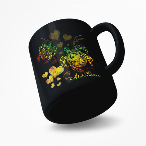 Hawaii Turtle Valentine Mug