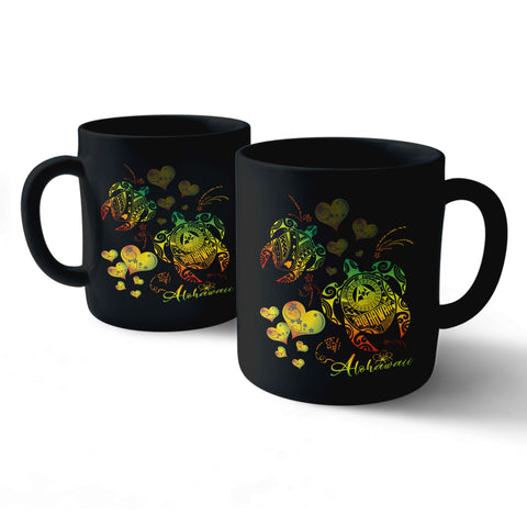 Alohawaii Turtle Couple Love Polynesian Mug