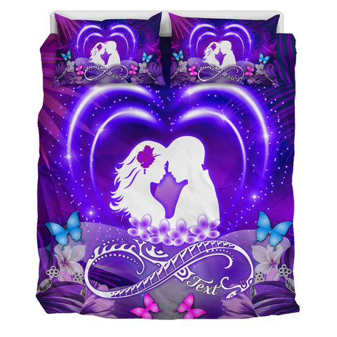 Image of Hawaiian Couple Hibiscus Valentine Bedding Set - Bliss Style AH