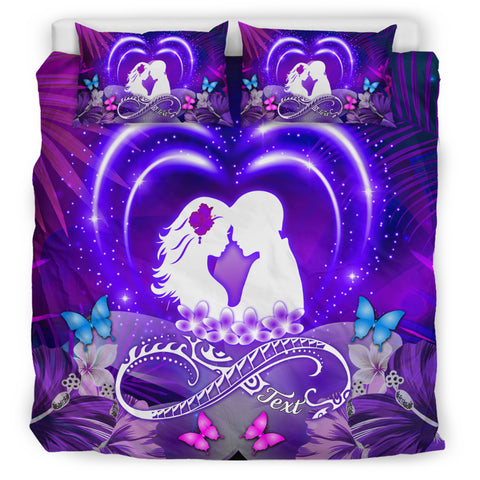 Image of Hawaiian Couple Hibiscus Valentine Bedding Set - Bliss Style | Alohawaii.co