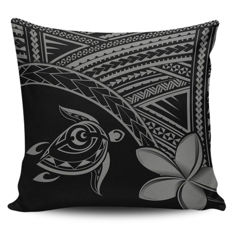Image of Alohawaii Pillow Cases - Hawaii Turtle Plumeria Grey - AH | Home Set