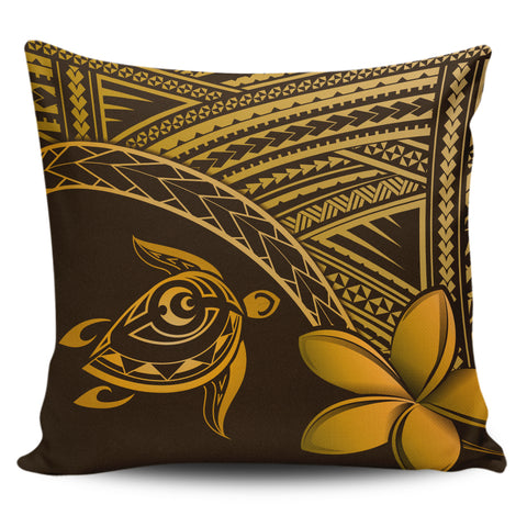 Image of Alohawaii Pillow Cases - Hawaii Turtle Plumeria Brown - AH | Home Set