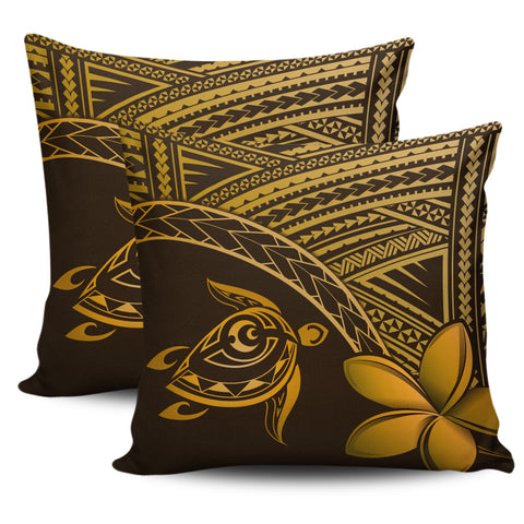 Image of Alohawaii Pillow Cases - Hawaii Turtle Plumeria Brown