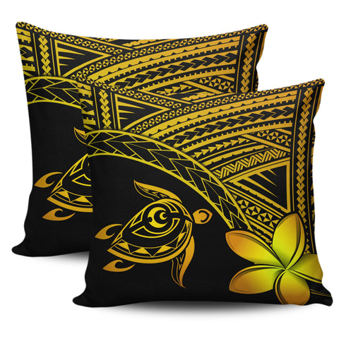 Image of Alohawaii Pillow Cases - Hawaii Turtle Plumeria Yellow