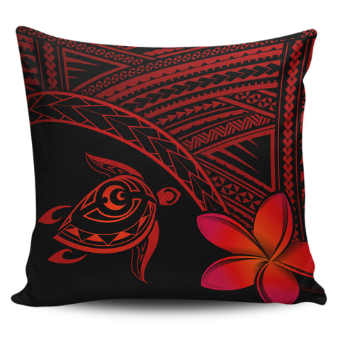 Image of Alohawaii Pillow Cases - Hawaii Turtle Plumeria Red - AH | Home Set