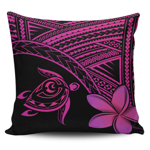 Image of Alohawaii Pillow Cases - Hawaii Turtle Plumeria Pink - AH | Home Set