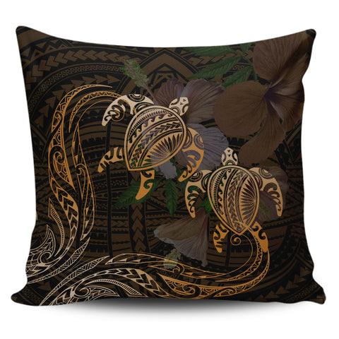 Hawaii Couple Turtle Kanaka Hibiscus Valentine Pillow Covers - Eras Style - AH - J2