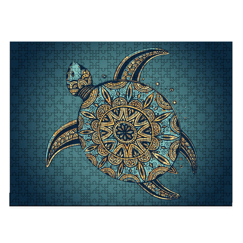 Image of Hawaii Turtle Jigsaw Puzzle - AH - J4 - Alohawaii