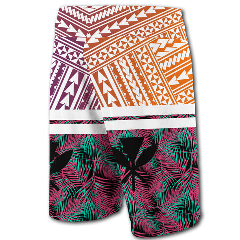 Hawaii Summer Tropical Polynesian Kanaka Men's Board Shorts - AH - J5 - Alohawaii