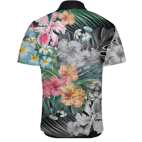 Hawaii Forest Tropical Flower Short Sleeve Shirt - AH - J5 - Alohawaii