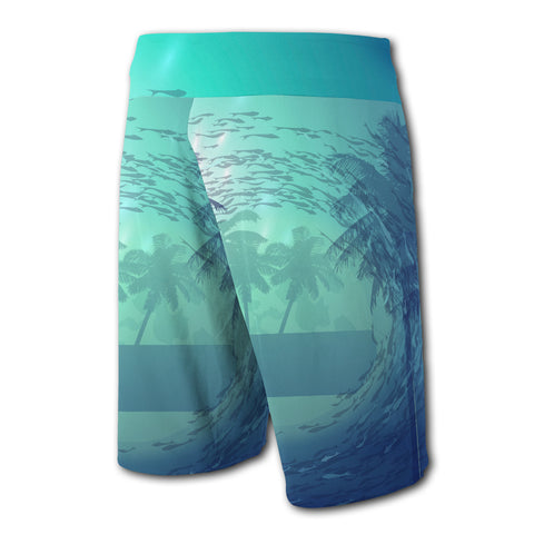 Hawaii Dive Coat Of Arm Board Short - AH J4 - Alohawaii