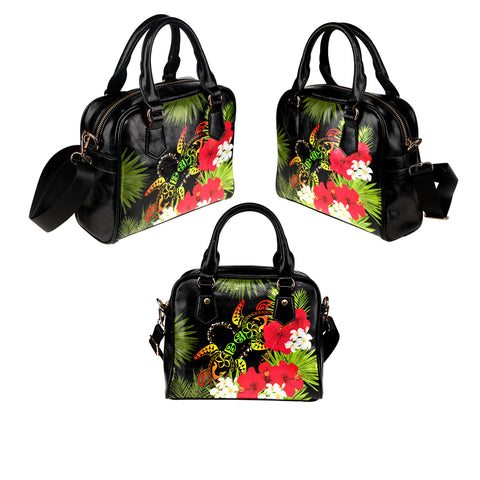 Hawaii Couple Turtle Hibiscus Tropical Valentine Shoulder Handbag