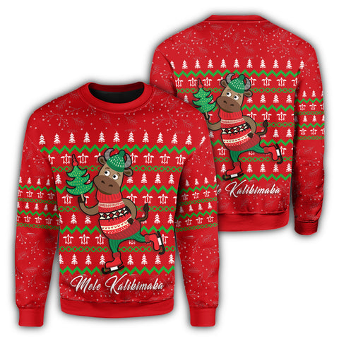 Image of Hawaiian Turtle Christmas Sweatshirt - Red - Felix Style - AH - J2