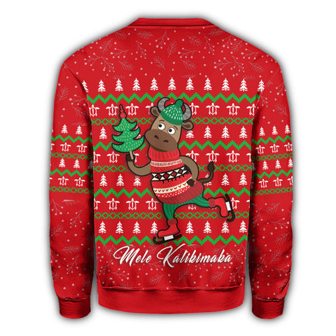 Image of Hawaiian Turtle Christmas Sweatshirt -