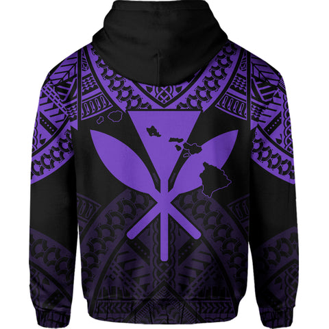 Hawaii Polynesian Limited Hoodie - Tab Style Purple - AH - J4