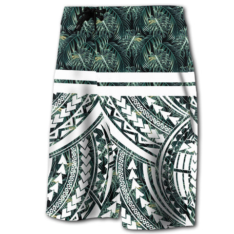 Hawaii Summer Palm Tree Polynesian Kanaka Men's Board Shorts - AH - J5 - Alohawaii