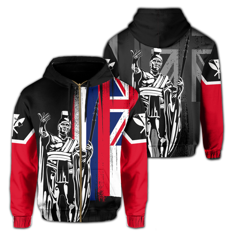 Hawaii King Flag (Zip-up) Hoodie