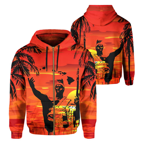 Image of Hawaii Summer King Sunset Hoodie (Zip-up)