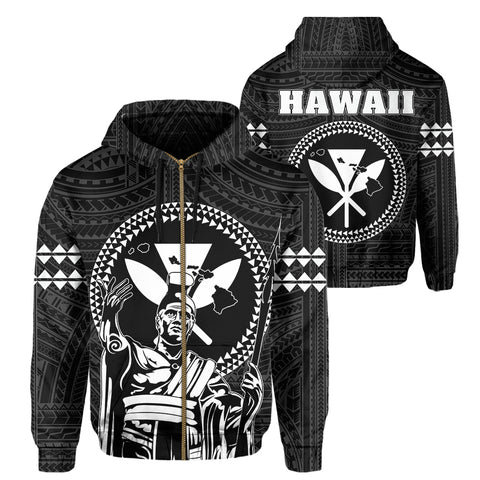 Image of Hawaii King Kanaka Kakau Hoodie (Zip-up)