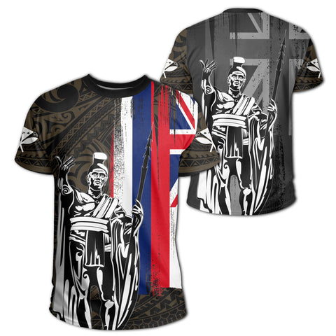 Hawaii King Flag Polynesian T-shirt - Gold - AH J4 - Alohawaii