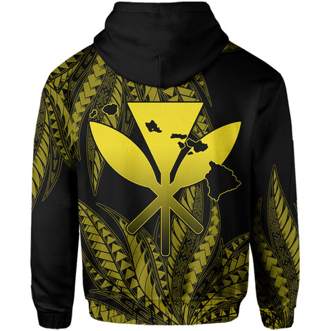 Hawaii King Polynesian Hoodie - Durk Style Yellow - AH - J4