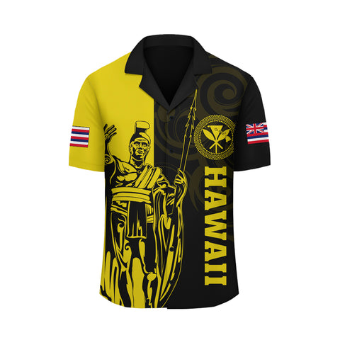 Hawaii King Polynesian Hawaiian Shirt - Lawla Style Yellow - AH - J4