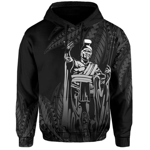 Image of Hawaii King Polynesian Hoodie - Durk Style Gray - AH - J4