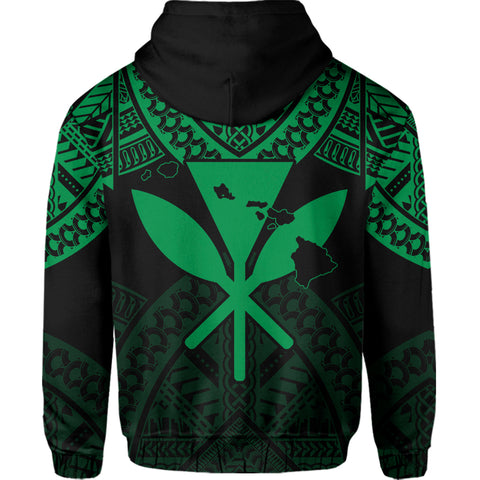 Image of Hawaii Polynesian Limited Hoodie - Tab Style Green - AH - J4