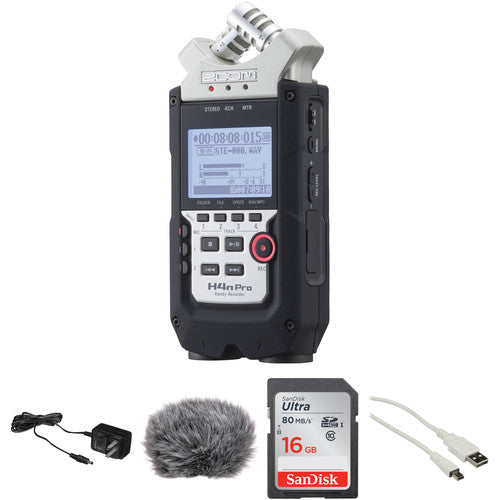 Zoom H4n Pro 4-Channel Recorder and Essential Accessories Kit