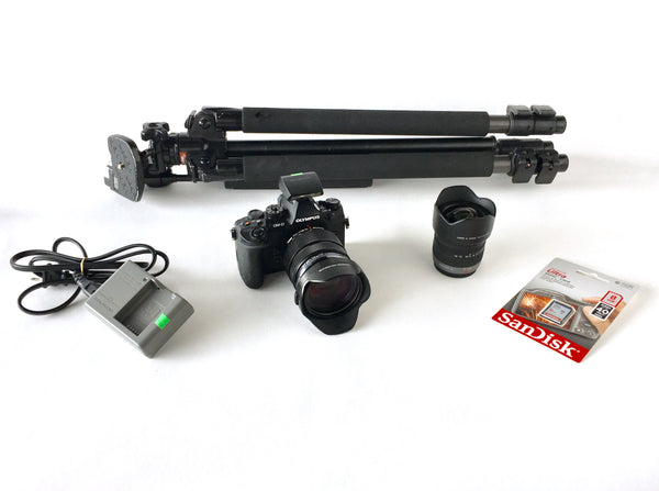 Olympus Micro 4/3 Camera Kit with 2 Lenses and Tripod