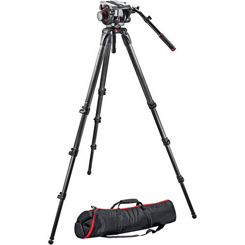 Manfrotto CF Tripod & Fluid Head Kit - Heavy Duty