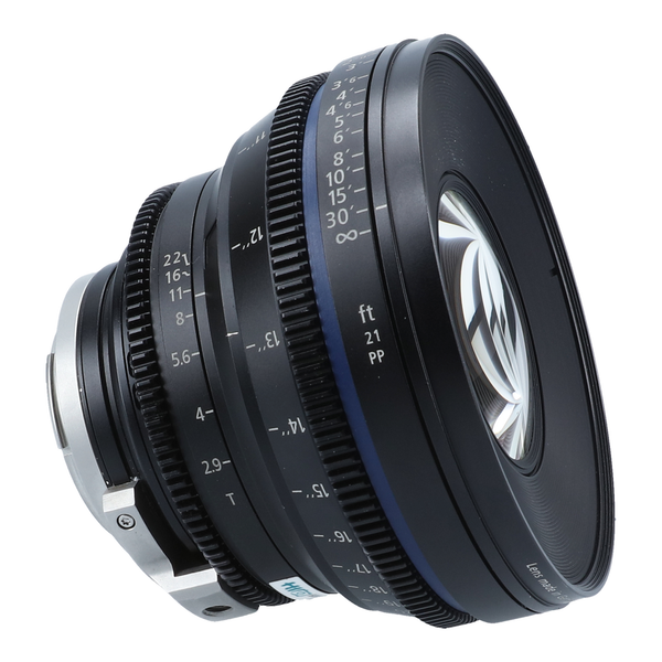 Zeiss Compact Prime CP.2 21mm T2.9 2.9 T* (Feet) Lens with EF mount
