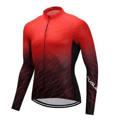 Long Sleeve Cycling Jersey - RedLine