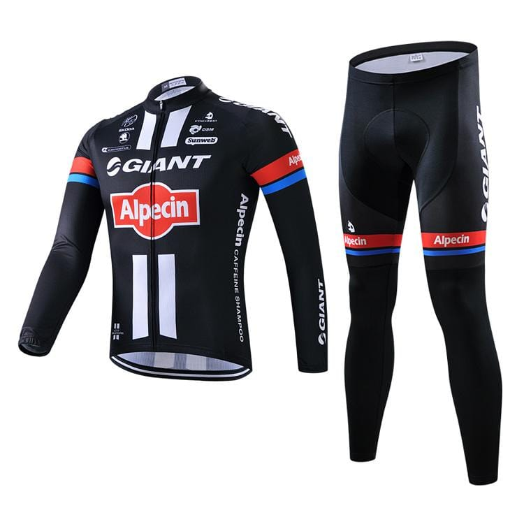 Long-sleeved cycling suit