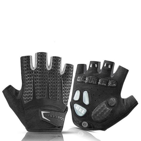Half finger men and women mountain bike short finger riding gloves