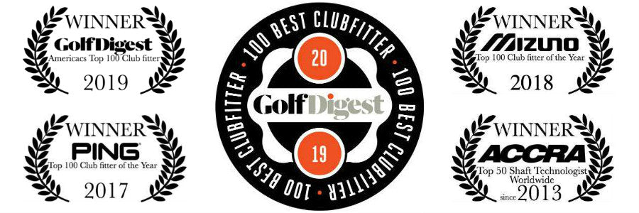 Spargo Golf Awards!  Golf Digest 100 Best Clubfitter, Top 100 Fitter by Mizuno, Top 100 Fitter of the Year by PING, Top 50 Shaft Technologist by ACCRA