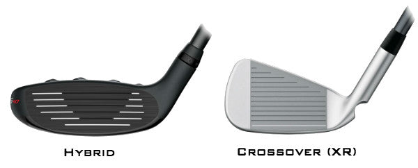 PING G410 Hybrid vs. PING G410 Crossover (XR) - Clubface View - Review