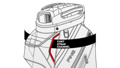 Ping Pioneer Cart Bag - Cart Strap Channel