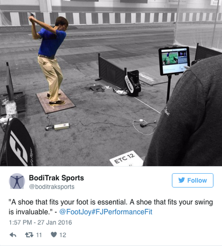 FootJoy BodiTrak Fitting
