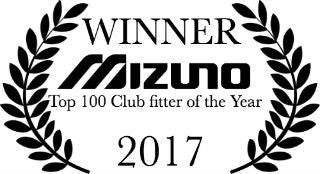 WINNER Mizuno Top 100 Club fitter of the Year 2017
