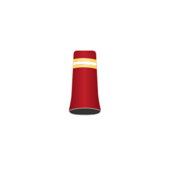 Football Team #16 - Custom Golf Ferrule - Red Ferrule with yellow, white and yellow rings