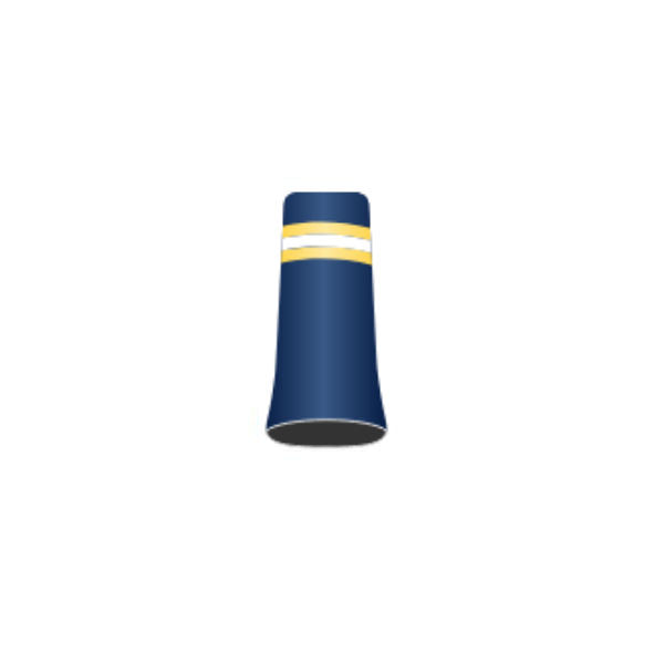 Football Team #18 - Custom Golf Ferrule - Pearl Blue with yellow, white and yellow rings
