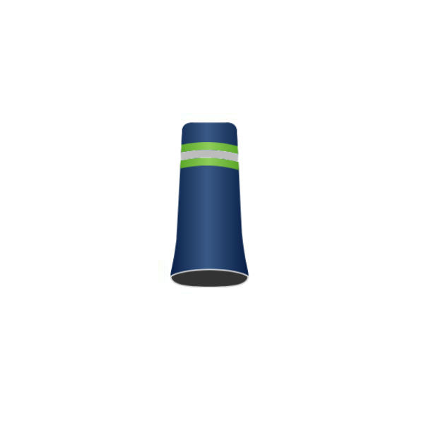 Football Team #29 - Custom Golf Ferrule - Pearl Blue ferrule with lime green, silver and lime green rings