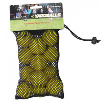 Yellow Yard Balls, Dozen - US Kids Golf