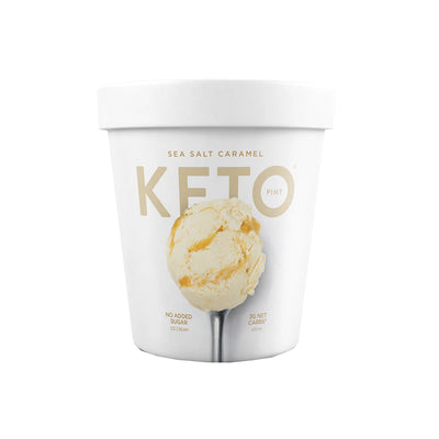 Sea Salt Caramel Keto Ice Cream